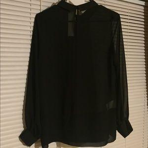 BCBGeneration Black Collared Shirt
